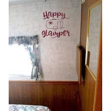 Rv Camper Wall Art Decor Happy Glamper Vintage Vinyl Decals Sticker 12x11 5 Inch Burgundy Walmart Com Walmart Com
