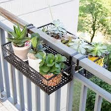 Flower Pot Stand Rack Deck Rail Flowerpot Railing Shelf Balcony Rail Planter Shelf Fence Railing Flower Pots Holder Storage Holders Racks Aliexpress