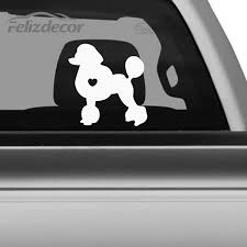 I Love My Poodle Dog Animal Car Stickers Waterproof Decals Car Styling Accessories Window Decor Black White Cl019 Car Styling Stickers Waterproofdecals Car Aliexpress