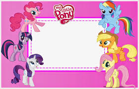 My Little Pony Party Free Printable Invitations Invitaciones