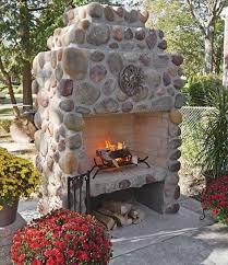 river stone fireplaces beautiful
