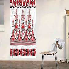 Amazon Com Poppy Ramsden Ukrainian One Piece Wall Decal Sticker Slavic Culture Floral Art Peel And Stick Pvc Wallpaper For Living Room Bedroom Office Decoration 36x95 Inch Home Kitchen