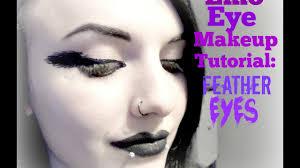 emo makeup tutorial 8 feather eyes