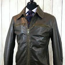brown moto er aviator jacket vanson