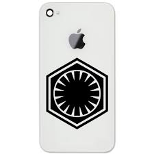The First Order Galactic Empire Imperial Logo 2 Vinyl Sticker Cell Phone Decal