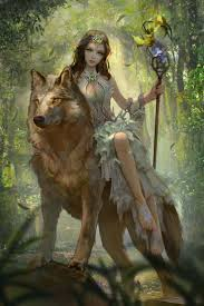 fantasy elf and wolf wallpaper iphone