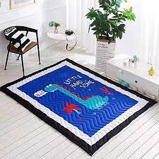 Amazon Com Baby Kids Play Mat Cotton Crawling Cushion Kids Room Rug Floor Gym Non Toxic Non Slip Washable Reversible Room Decor Floor Rug Activity Floor Carpet Baby