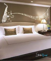 Vinyl Wall Decal Sticker Saxophone Music Notes Sax 326 Music Bedroom Music Themed Bedroom Music Wall Art