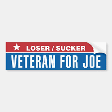 Loser Sucker Veteran For Joe Bumper Sticker Zazzle Com