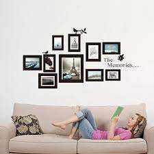 Removable Photo Frame Wall Sticker Vinyl Decal The Memories Foto Frames For Picture Family Stickers Home Decor Living Room Black Frame Floor Frame Gogglesframe Pool Aliexpress