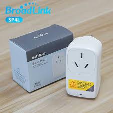 Broadlink Chính Thức SP4L Điện Contros WiFi Ổ Cắm Thông Minh Hẹn Giờ Cắm  Điện IOS Android Điều Khiển Từ Xa Ổ Cắm|