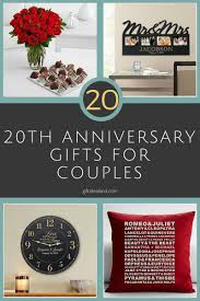gift ideas for 20th wedding anniversary