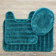 mohawk home veranda bath rug teal set