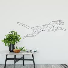 Creative Vinyl Jaguar Wall Stickers Home Decor Geometry Series Decals Wall Art For Living Room Bedroom Decals Wallpapers Wall Decals For Cheap Wall Decals For Girls Room From Joystickers 9 95 Dhgate Com