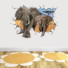 Elephant Break Through Wall Creative Decal Stickers Removable Kids Nursery Decor Art African Animal 70 X 100cm Home Decor Wall Decoration Decals Wall Decoration Sticker From Magicforwall 6 6 Dhgate Com