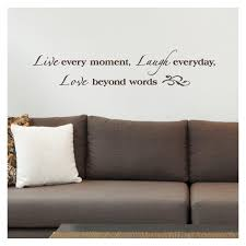 Live Every Moment Laugh Everyday Love Beyond Words Vinyl Lettering Wall Decal Sticker 8 H X 40 L Brown Walmart Com Walmart Com