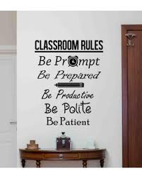 New Savings On Classroom Rules Wall Decal Sign Vinyl Sticker Education Quote School Decor Gift Class Room Art Motivational Poster 188bar