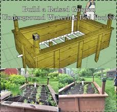raised garden underground watering bed