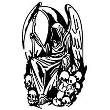 Amazon Com Grim Reaper Angel Of Death Sticker Graphic Auto Wall Laptop Cell Truck Sticker For Windows Cars Trucks Automotive