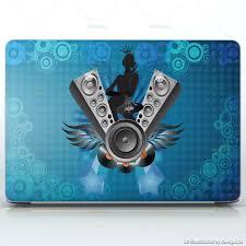 Music Queen Dj Angel Girl Laptops Apple Macbook Pro 15 Decal Skin Wrap Sticker Music