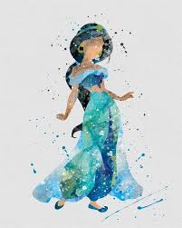 character inspired watercolor prints