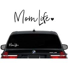 Amazon Com Decaltor Mom Life Decal Vinyl Sticker Cars Trucks Vans Walls Laptop White 7 5 In Automotive