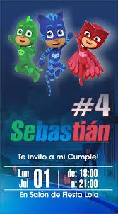Invitacion Virtual Cumple Pj Mask Redes Sociales 135 00 En