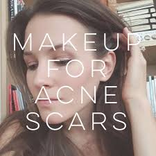 how to apply makeup for acne scars