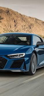 audi r8 2019 blue car sd 1242x2688
