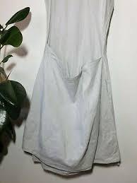 rundholz dress linen blend gray size s