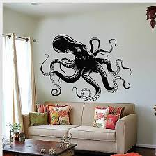 Vinyl Wall Decal Octopus Tentacles Marine Creatures Kraken Stickers 637ig Ebay
