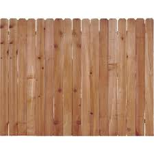 Unbranded 6 Ft H X 8 Ft W Western Red Cedar Dog Ear Fence Panel 138126 The Home Depot