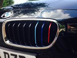7 Series Bmw M Colored Kidney Grille Stripe Decal Sticker Etsy