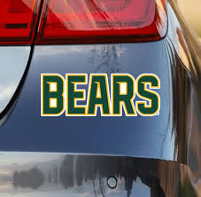 Baylor University Car Decal Bears Sticker Nudge Printing