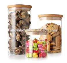 320ml high quality glass jar wooden lid