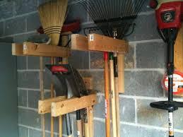 help hang garden tools in garage