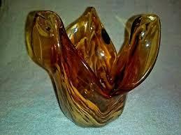 white crystal flower art glass bowl