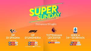 MotoGP, Formula 1, Premier, Serie A su Sky: orari e programmazione del  Super Sunday l Sky Sport