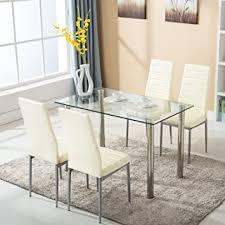 com mecor 5 piece dining table