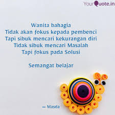 wanita bahagia tidak akan quotes writings by masdalifah skm