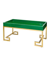 char greek key coffee table