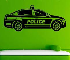 Car Wall Sticker Police Car Vinyl Decal Cars Decals Wall Vinyl Etsy