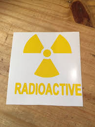 Radioactive Decal Nuclear Home Sticker Car Window Laptop Etsy Vinyl Sticker Car Stickers Stickers