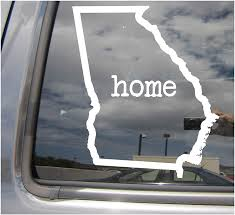 Amazon Com Right Now Decals Georgia State Home Outline Ga Atlanta The Peach State Usa America Cars Trucks Moped Helmet Hard Hat Auto Automotive Craft Laptop Vinyl Decal Store Window Wall