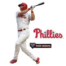 Fathead Rhys Hoskins Philadelphia Phillies 3 Pack Life Size Removable Wall Decal