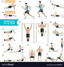 workout fitness aerobic and exercises