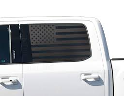 Amazon Com American Flag Decals For Ford F150 Crew Cab In Matte Black For 2015 2020 Crew Cab Side Windows Custom Design Ff1a Handmade