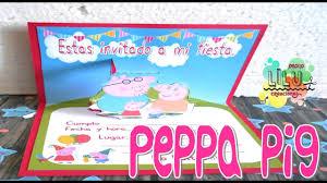Como Hacer Una Invitacion Peppa Pig Youtube