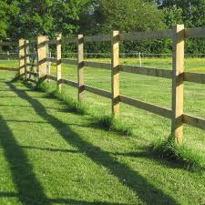 Square Post And Rail Fence Diy Metre Kit Buy Online Uk Delivery