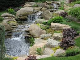 waterfall and garden pond traditional